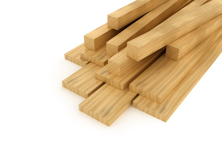 Wooden beams and planks photo