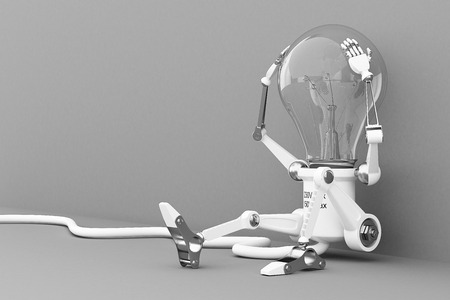 Robot lamp photo