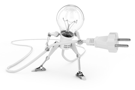 Robot lamp photo
