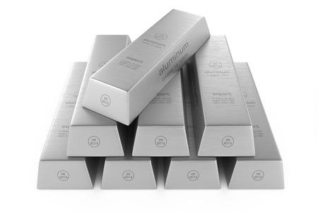 Aluminum ingots photo
