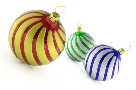 Christmas decoration balls photo