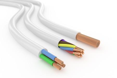 redes electricas: Cable el�ctrico Foto de archivo