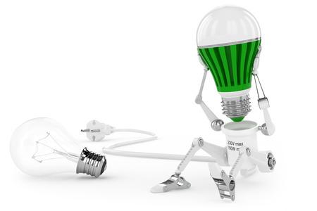 Robot lamp twist led lamp in head