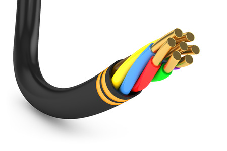 Black electrical cable photo