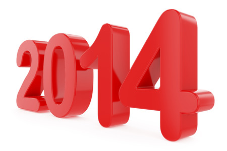 xmax: New Year title 2014 Stock Photo