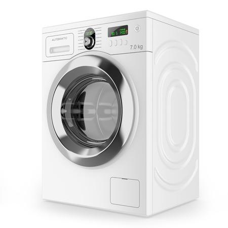 laundry detergent: Modern automatic washing machine Stock Photo