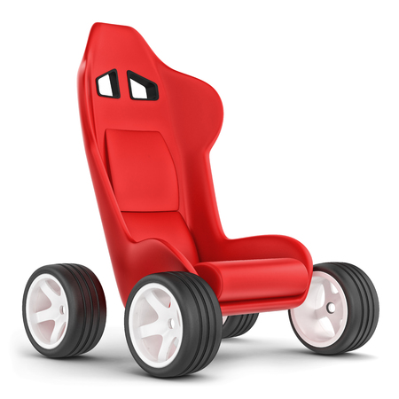 Concept cart  Seat on wheels  photo