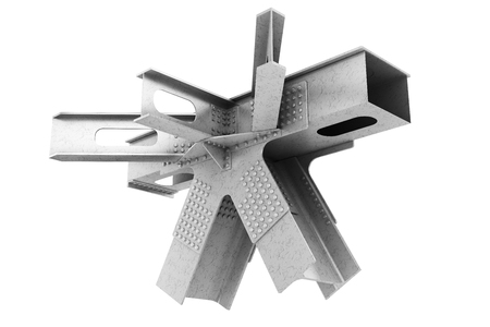 steelwork: Fragment of structural metalwork