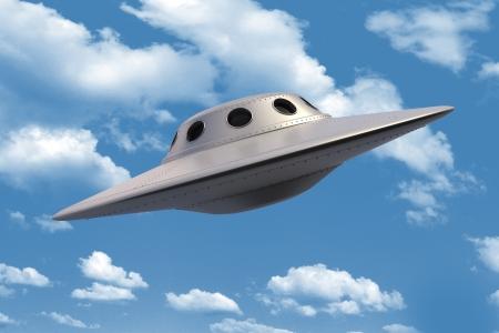 Unidentified Flying Object in de lucht
