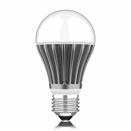 Modern LED lamp isolated on white background  photo