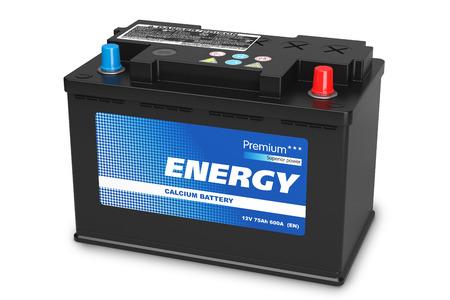 batteries: Black automobile battery