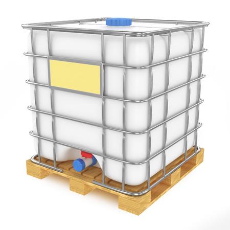 dep�sito agua: Tanque de agua de pl�stico aisladas sobre fondo blanco