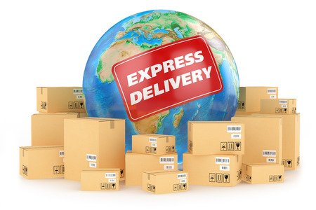 Express delivery worldwide  Concept photo
