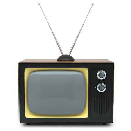 Retro TV isolated on white background photo
