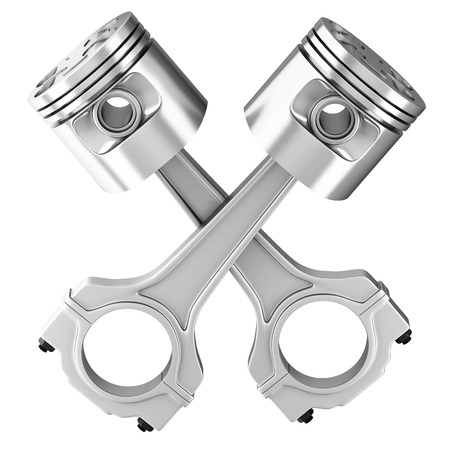 Engine pistons  3D image  photo