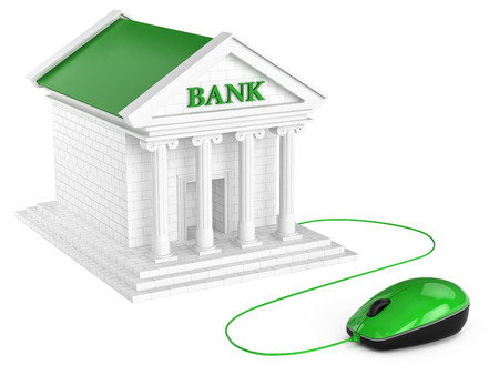internet banking: Internet banking account  Concept