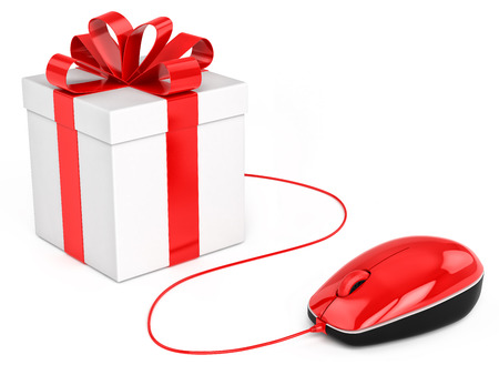 Buy gift online shopping  Concept photo