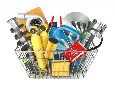automotive parts: Auto parts store in basket