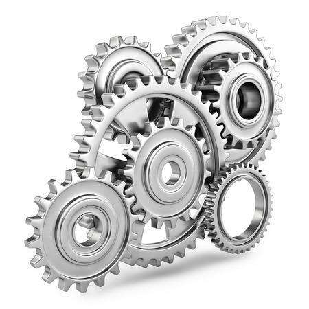Engranajes Cog concepto de mecanismo de 3d