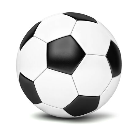 leather goods: Classic soccer ball isolated on white background