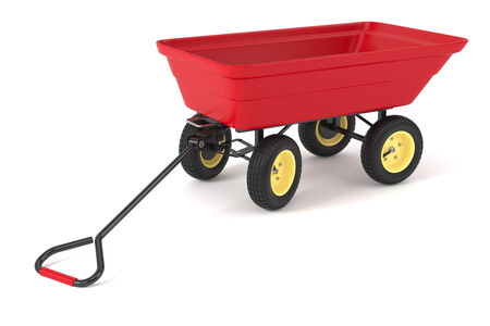 handcart: Hand trolley isolated on white background 3d Stock Photo