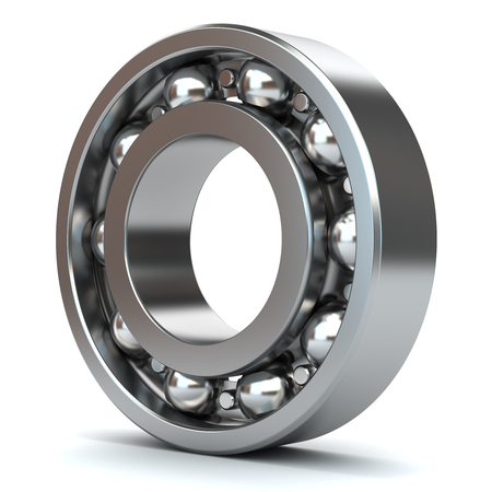 metal ball: Bearings isolated on white background 3D Stock Photo