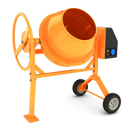 cement mixer: Concrete mixer isolated on white background 3D Stock Photo