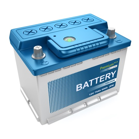 Automotive battery isolated on white background 3d Stock fotó