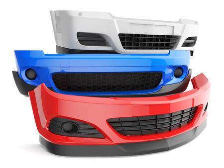 Bumper bumpers geïsoleerd auto-auto voorspatbord delen plastic auto lichaam Stockfoto - 39374998