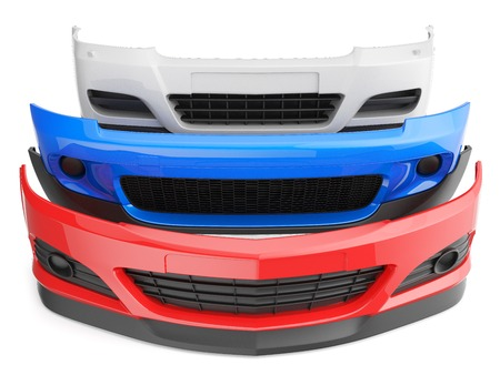 pegatinas de parachoques guardabarros aislado auto parte frontal partes del cuerpo del automóvil de plástico Foto de archivo