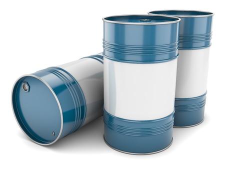 Vaten staalblauw pallet lade geïsoleerd olietanks water metal groep
