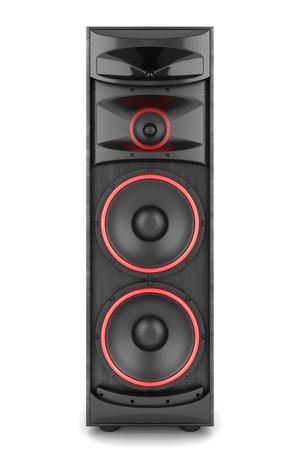 Speaker  box audio music concert two isolated high big Standard-Bild