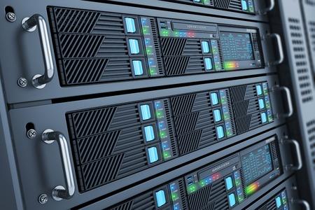 Centre de données du serveur de salle de panneau agrandi Banque d'images - 42093858