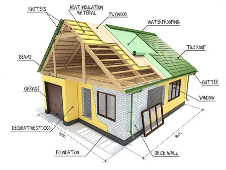 Plan For The Construction Project Of A House Design And