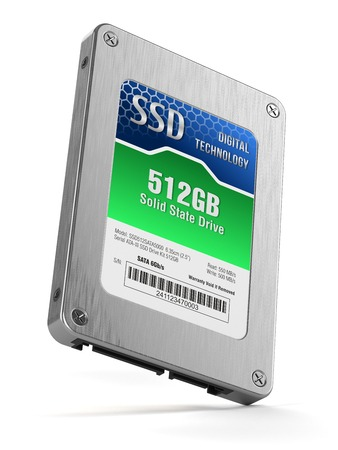 ssd: SSD drive, State solid drives isolated on white background 3d