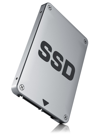 portable hard disk: SSD drive, State solid drivesisolated on white background 3d