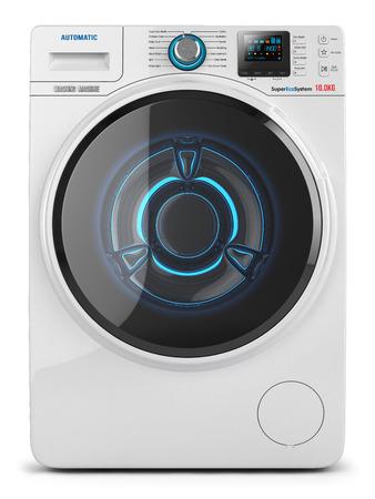 Waschmaschine isoliert auf weißem Hintergrund 3D Standard-Bild - 45808023