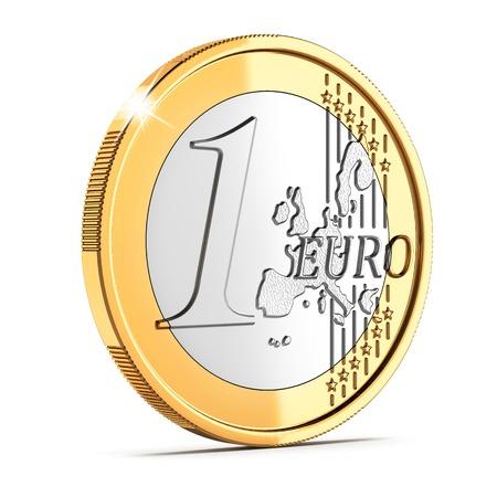 Een euro muntstuk cent op een witte achtergrond