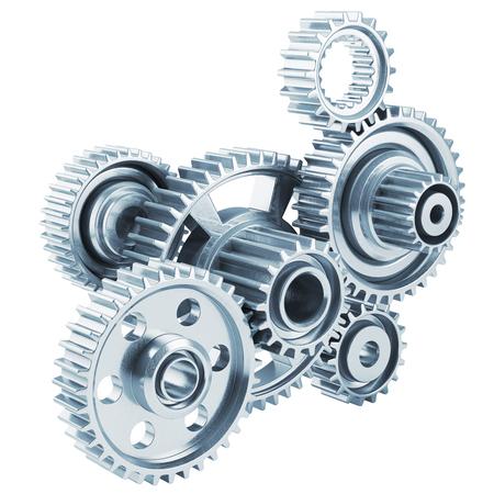 mechanism: Cog gears mechanism concept. 3d