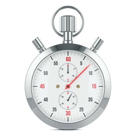 Stopwatch timer, contdown. Geïsoleerd op een witte achtergrond 3D