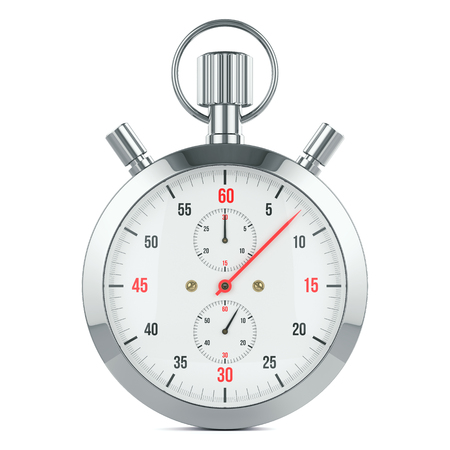 stopwatch: Stopwatch timer, contdown. Isolated on white background 3d