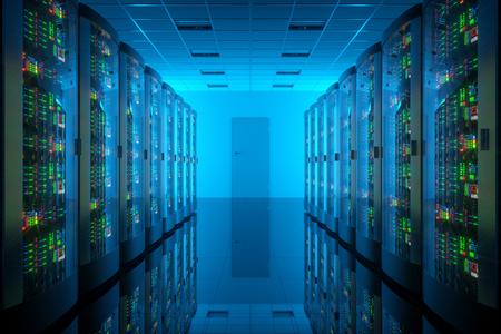 computer case: Server romm in data center