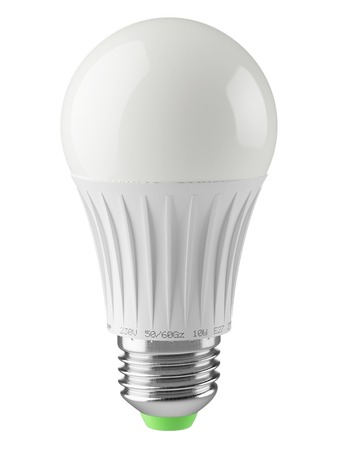 celling: Economical energy savings modern LED lamp isolated on white background. Icon 3d