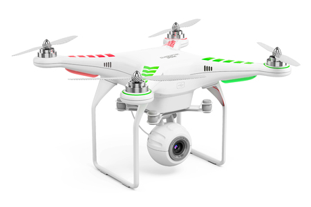 Drone quadrocopter 3d render
