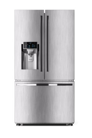 Réfrigérateur domestique moderne avec écran de contrôle. rendu 3D Banque d'images