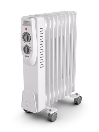 Electric oil filled heater. 3d render Banque d'images