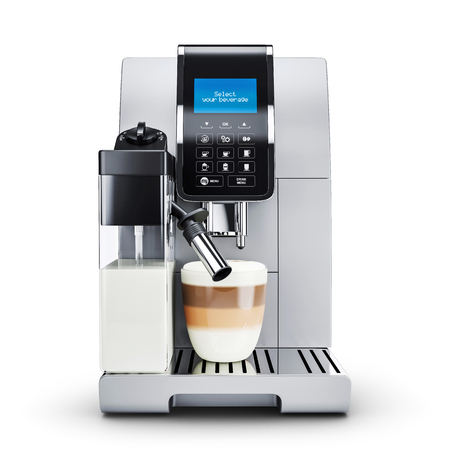 Modern automatic coffee machine.  Front view. 3d render