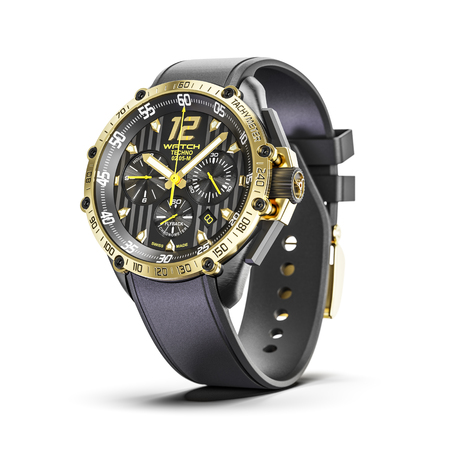 Golden man luxury wrist watches isolated on white background 3d