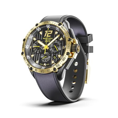 Złoty mężczyzna luksusowe zegarki na rękę na białym tle 3d
