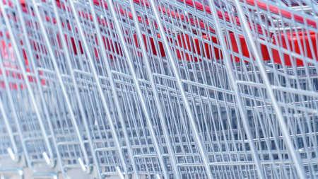 silver shopping trolleys